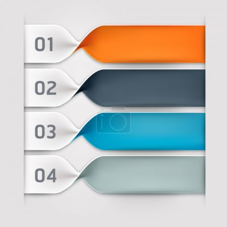 Illustration for Modern spiral infographics options banner. Vector illustration. can be used for workflow layout, diagram, number options, web design. - Royalty Free Image