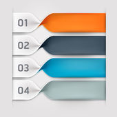 Modern spiral infographics options banner Vector illustration