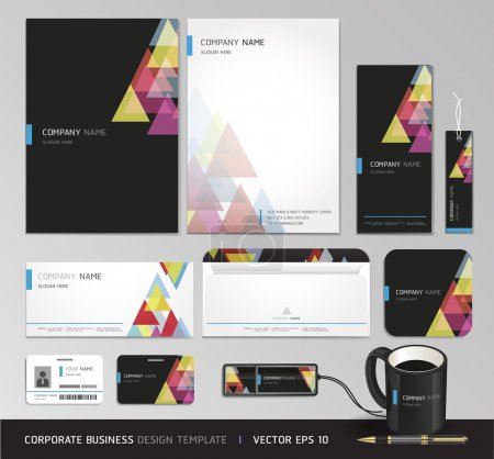 Illustration for Corporate identity business set. Vector illustration. - Royalty Free Image