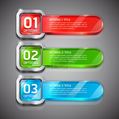 Colorful Buttons Website Style Number Options Banner & Card Background
