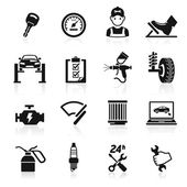 Car service maintenance icon set Vector illustration