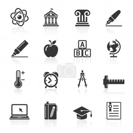 Education Icons set . Vector Illustration.