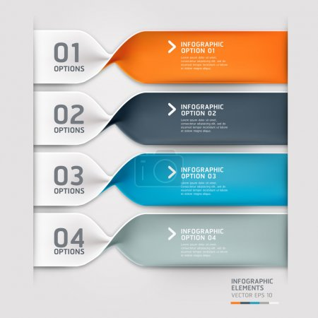 Photo for Modern spiral infographics options banner. Vector illustration. can be used for workflow layout, diagram, number options, web design. - Royalty Free Image