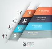 Modern business steb origami style options banner Vector illust