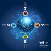 Global internet communication with orbits Number Options templa