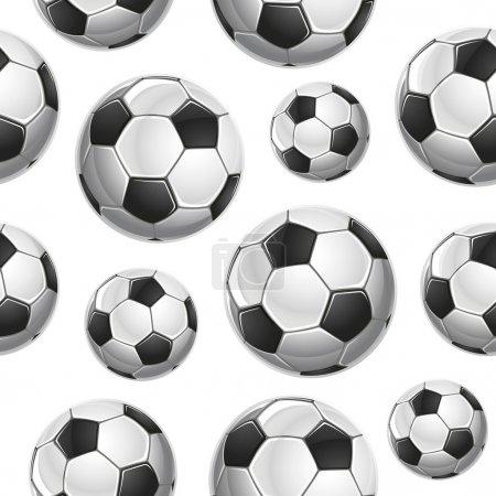 Soccer Balls Seamless pattern. Vector illustration