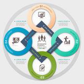 Business management cirkel origami