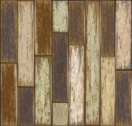 Illustration for Old Wooden texture background. vector illustration. - Royalty Free Image
