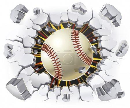 Baseball and Old Plaster