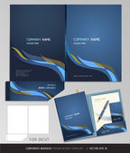 Corporate Identity Business Set Folder Design Template Vector illustration