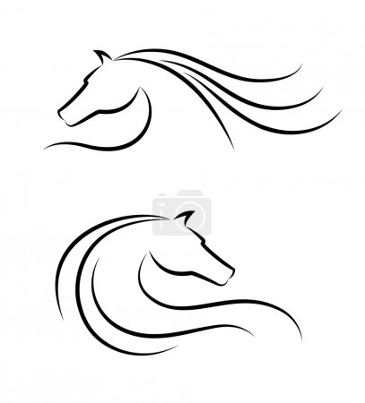 Illustration pour Emblème tête de cheval - image libre de droit