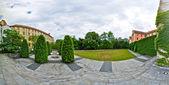 Panoramic courtyard