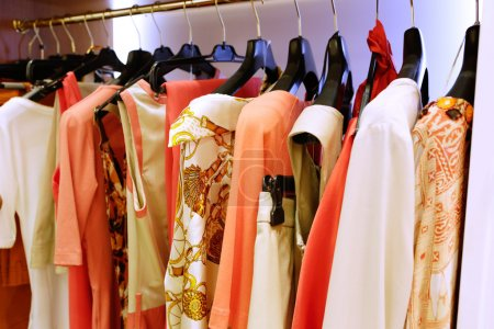 Presentation of goods in a clothing store