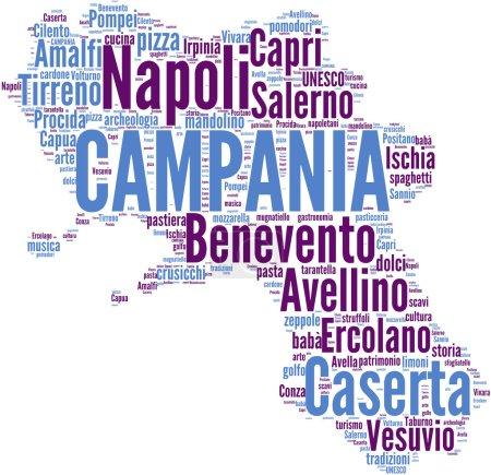 Campania tagcloud - regioni di Italia