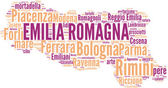 Tagcloud oblasti Emilia Romagna-Itálie