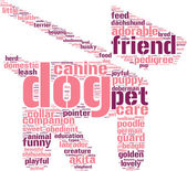 dog and leash symbol tag cloud pictogram