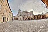 Offida, Italy. The main square.