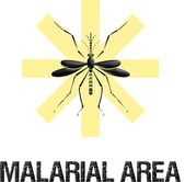 Malarial area caution sign