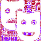 Theatre pictogram vector tag cloud