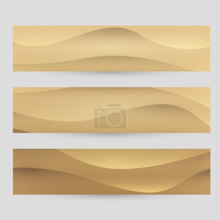Vector sand banner set