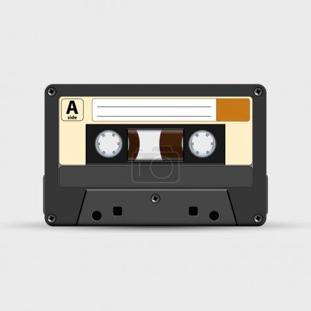 Vector retro audio tape
