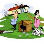 Husband and wife quarreled, illustration...