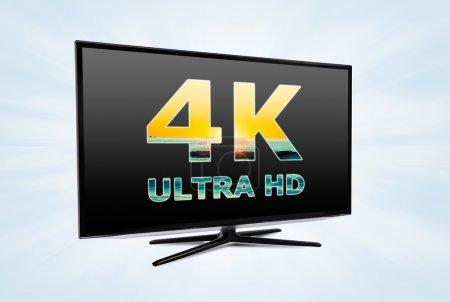 Photo pour Technologie d'écran de télévision numérique ultra haute définition - image libre de droit