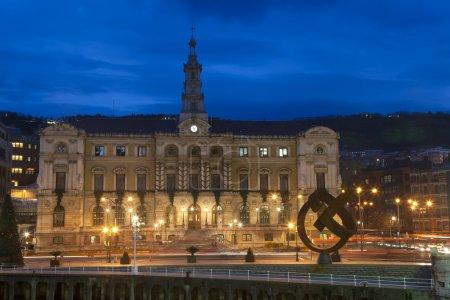 Photo pour Hôtel de ville de bilbao, Biscaye, pays basque, Espagne - image libre de droit