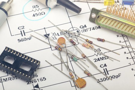 Photo for Electronic components - Royalty Free Image