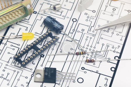 Photo for Group of electronic components - Royalty Free Image