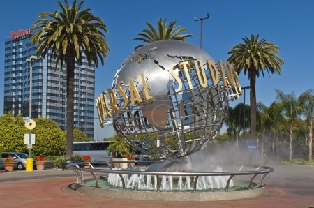 Monument at the entrance to Universal Studios