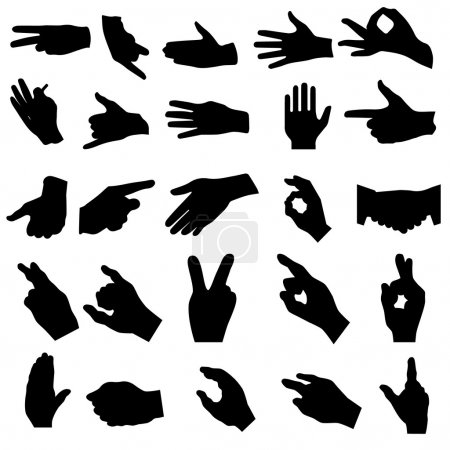 Illustration for Hand silhouettes - Royalty Free Image