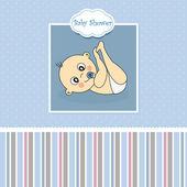 Baby boy birth card