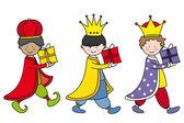 Children dressed as Three Kings