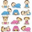 Vector illustration of baby boys and baby girls...