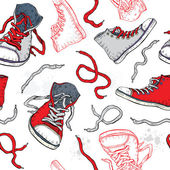 Sneakers. Shoes Seamless pattern