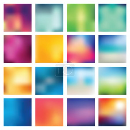 Illustration for Set of abstract backgrounds blurred. Vector illustration. - Royalty Free Image