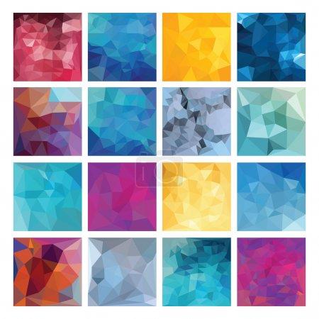 Illustration pour Résumé Ensemble de fond géométrique. Conception vectorielle polygonale . - image libre de droit
