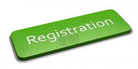 Green rectangle registration button
