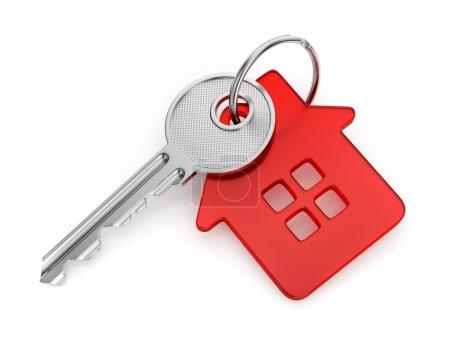 House shaped key-chain