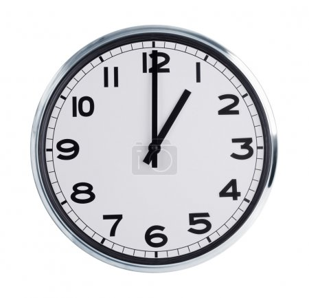 Wall clock shows the time