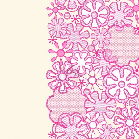 Seamless abstract lace floral pattern