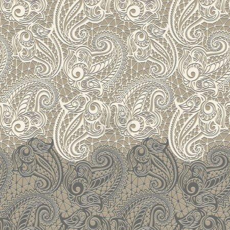 Paisley seamless lace pattern