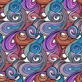 Seamless abstract curly wave pattern-model for design of gift packs patterns fabric wallpaper web sites etc