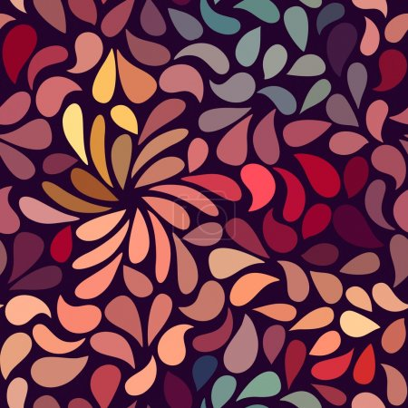 Illustration pour Seamless abstract floral pattern-model for design of gift packs, patterns fabric, wallpaper, web sites, etc. - image libre de droit