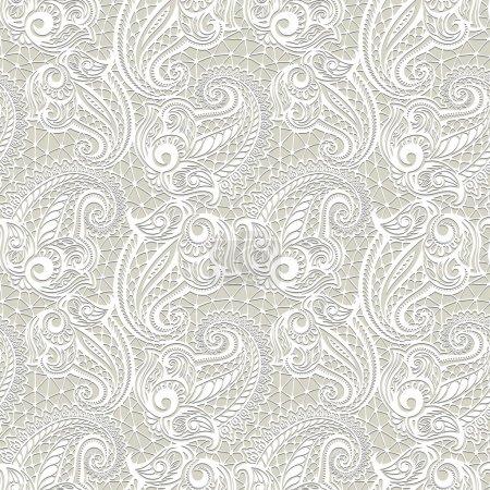 Illustration pour Modèle de dentelle sans couture Paisley pour la conception de paquets-cadeaux, tissus de motifs, papier peint, sites Web, etc. . - image libre de droit
