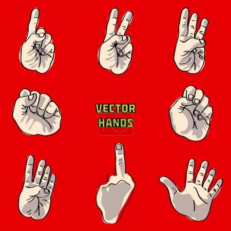 Vector hands set