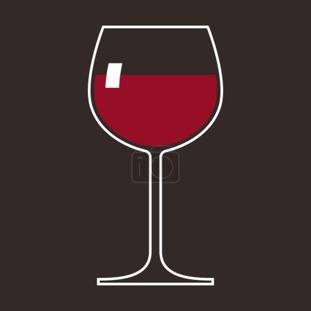 Illustration pour Verre à vin. Illusion vectorielle - image libre de droit