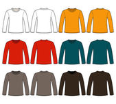 Long-sleeved T-shirt template Vector illustration