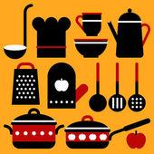 Vybavení kuchyně vektorová